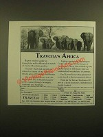 1988 Travcoa Africa Travel Ad - Elephants