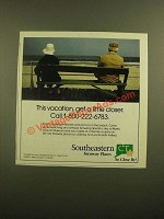 1988 Southeastern CT Ad - This Vacation, Get a Little Closer
