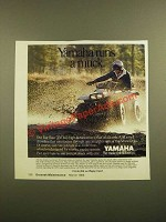 1988 Yamaha Big Bear 350 ATV Ad - Yamaha Runs A Muck