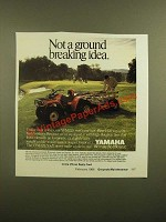 1988 Yamaha YFM225 ATV Ad - Not a Ground Breaking Idea