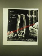 1988 Neiman Marcus Baccarat Crystal Buttercup Vase Ad