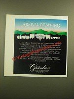 1988 The Greenbrier Resort Ad - Arrival of Spring
