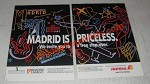 1988 Iberia Airline Ad - Madrid is Priceless