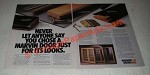 1988 Marvin Doors Ad - Just For Its Looks