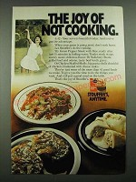 1976 Stouffer's Ad - Green Pepper Steak With Rice, Chicken Stuffed Shells