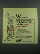 1976 U.S. Department of Transportation Ad - On High Authority