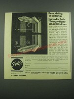 1976 Pella Energy-Tight Wood Windows Ad - Remodeling or Building?