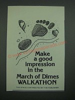 1976 March of Dimes Walkathon Ad - Make a Good Impression