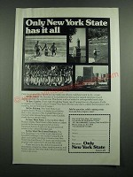 1975 New York State Dept. of Commerce Ad - Has It All