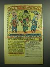 1975 Marvel Halloween Costumes Ad - Hulk, Spider-man, Captain America