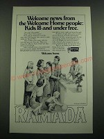 1974 Ramada Inn Ad - Welcome News From the Welcome Home People
