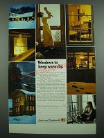 1973 Andersen Windowalls Ad - Windows To Keep Warm By