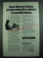 1973 Western Union Mailgram Ad - Improving the Nation's Communications