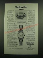 1971 Rolex Oyster Datejust Watch Ad - In Case