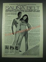 1970 Sauna Belt Ad - Rapid and Effective Waistline Reducer