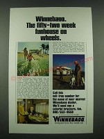 1970 Winnebago Motor Home Ad - Fifty-Two Week Funhouse on Wheels
