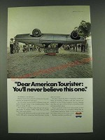 1970 American Tourister Luggage Ad - You'll Never Believe This One