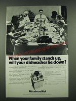 1970 KitchenAd Dishwasher Ad - When Your Family Stands Up
