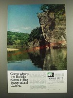 1970 Middle South Utilities Ad - Where The Buffalo Roams in the Ozarks