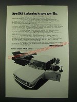 1970 INA Insurance Company of North America Ad - Save Your Life