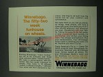 1970 Winnebago Motor Home Ad - The Fifty-Two Week Funhouse on Wheels