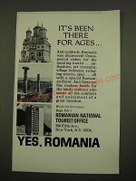 1970 Romanian National Tourist Office Ad - It's Been There for Ages