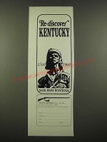 1969 Kentucky Tourism Ad - Re-Discover Kentucky