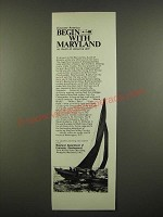 1969 Maryland Department of Economic Development Ad - Begin With