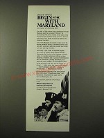 1969 Maryland Department of Economic Development Ad - Discover