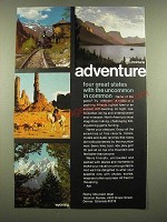 1969 Rocky Mountain West Vacation Bureau Ad - Adventure