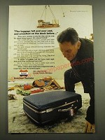 1969 American Tourister Luggage Ad - Smashed on the Dock Below