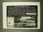 1969 Winnebago Motor Home Ad - Wants to Show You Where to Go