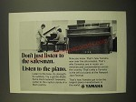 1969 Yamaha Piano Ad - Don't Just Listen to the Salesman