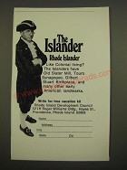 1969 Rhode Island Development Council Ad - The Islander