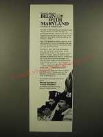 1968 Maryland Department of Economic Development Ad - Discover America