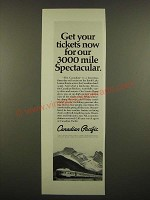 1968 Canadian Pacific Railway Ad - Get Your Tickets Now