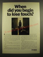 1967 Friden Data Processing System Ad - Begin to Lose Touch