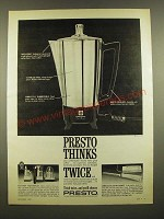 1967 Presto Coffemaker, Electric Toothbrush and Cordless Electric Knife Ad
