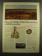 1967 Sinclair Oil Ad - The Battle of The Dam Saved a Wildlife Paradise