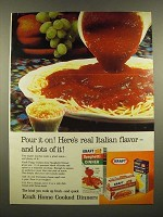 1967 Kraft Spaghetti Dinner Ad - Pour it On!