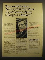 1967 Members New York Stock Exchange Ad - I'm a Stock Broker