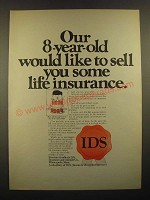 1967 IDS Investors Syndicate Life Insurance Ad - Our 8-Year-Old