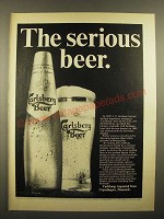 1967 Carlsberg Beer Ad - The Serious Beer