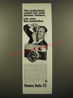 1967 Konica Auto-S2 Camera Ad - Has Some Amateur Features