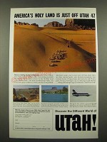 1967 Utah Tourism Ad - America's Holy Land is Just Off Utah 47