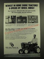 1967 Wheel Horse Tractor Ad - Newest in Home Chore Tractors