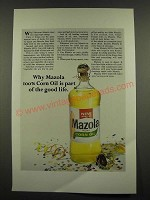 1967 Mazola Oil Ad - 100% Corn Oil is Part of the Good Life