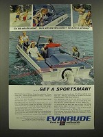 1967 Evinrude Sportsman Boat Ad - Got Kids Who Like Action?