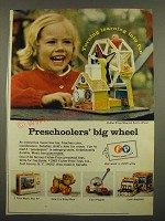 1967 Fisher-Price Toys Ad - Musical Ferris Wheel, Cry Baby Bear, Corn Popper
