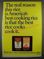 1967 Carolina Rice and River Rice Ad - The Real Reason
